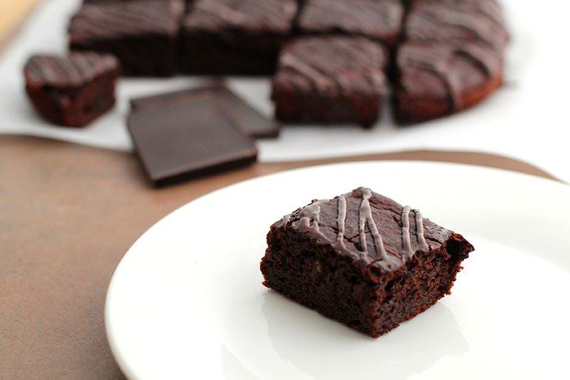 gluten free Dark Chocolate Zucchini Brownies