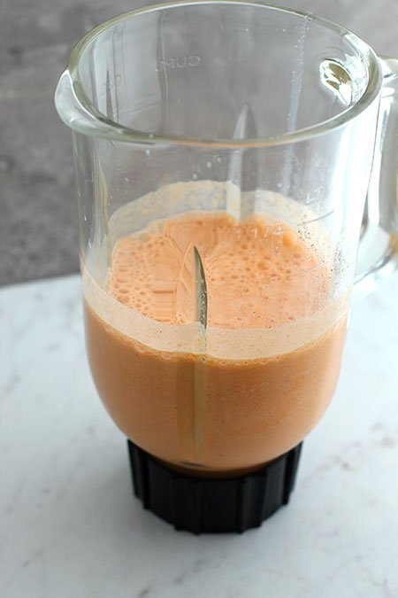 Anti-Inflammatory Golden Milk Smoothie in a blender