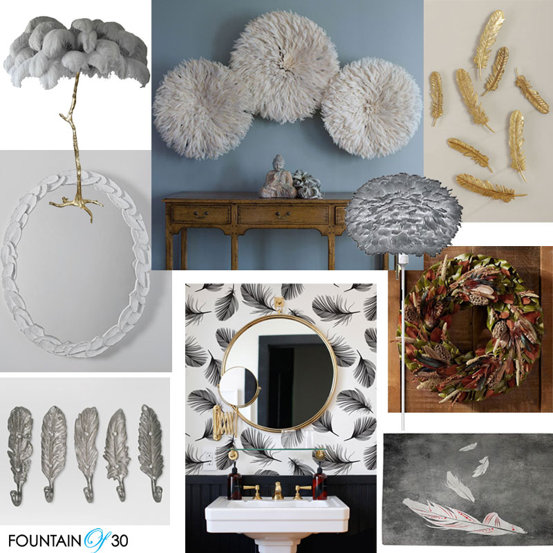 feather home decor lamps wall art white mirror frame turkey feather wreath silver feather hooks wallpaper rug