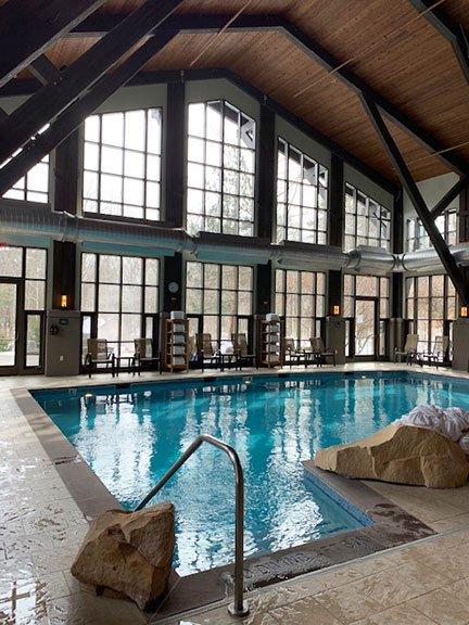 indoor pool at Lodge at Woodloch
