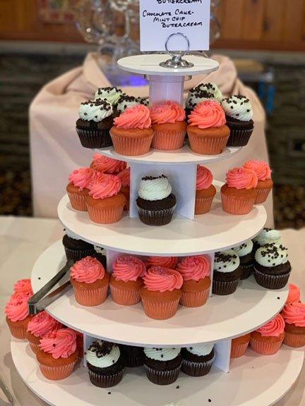 a cupcake tower