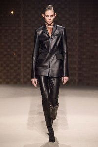 fall 2019 fashion trends black matrix leather Hermes pant suit