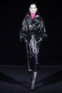 fall 2019 fashion trends black matrix leather balenciaga shiny coat