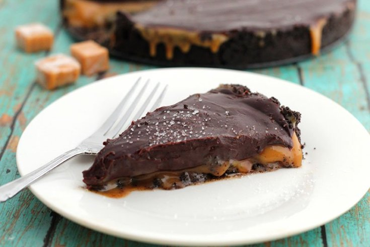 Salted Caramel Chocolate Pie fountainof30