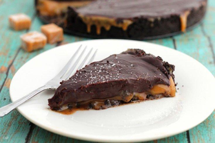 Salted Caramel Chocolate Pie fountainof30