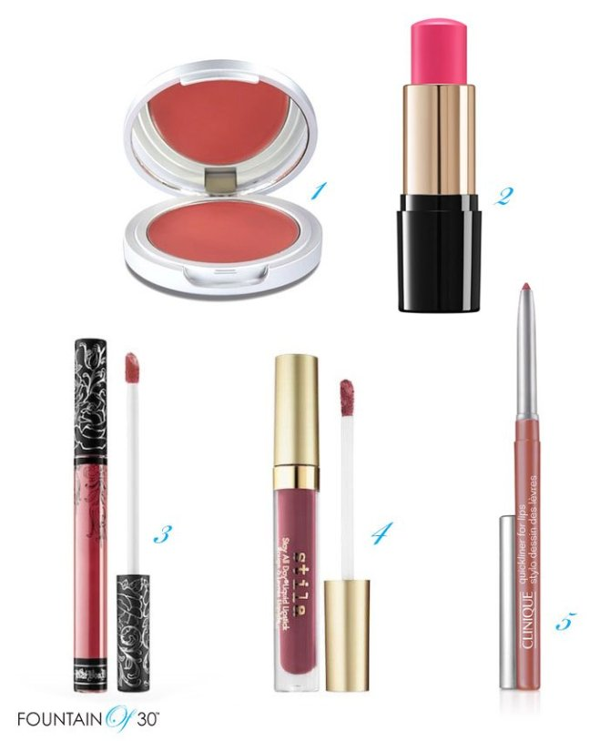 best sweat proof makeup blushes liquid lipsticks and liner fountainof30