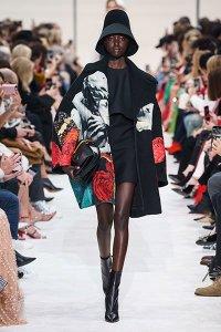 fall 2019 fashion trends Valentino statement coat colorful screen print