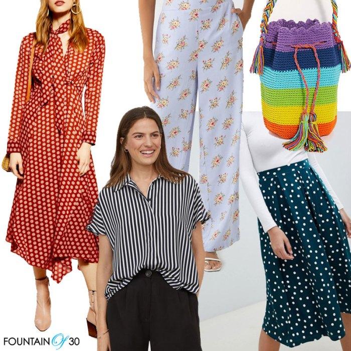 springtime prints looks for less polka dots stripes florals