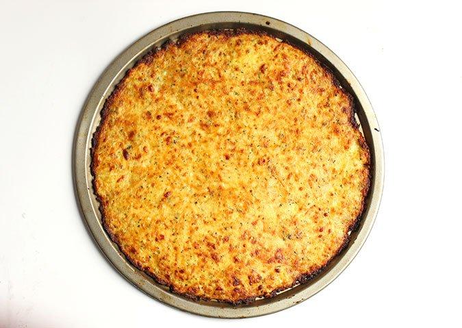 How to make Cauliflower Pizza crust baked fountainof30