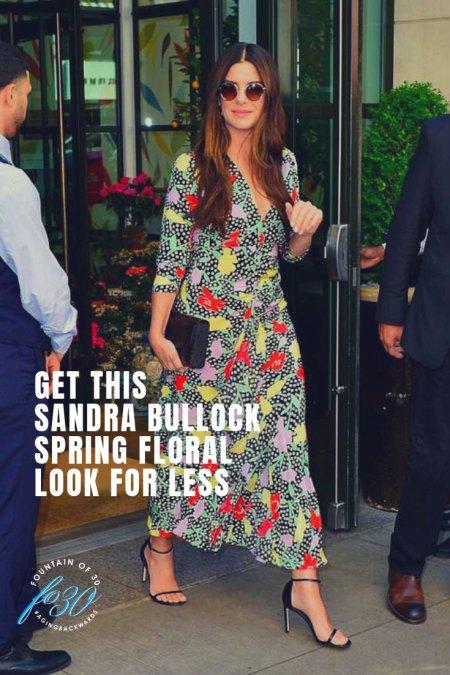 Sandra Bullock Spring Floral Look for Less FountainOf30