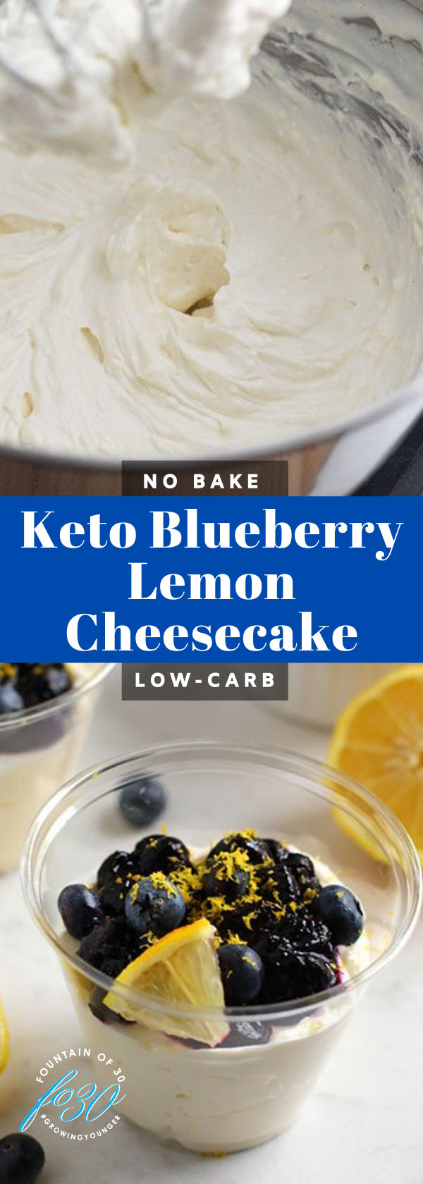 keto blueberry lemon cheesecake fountainof30