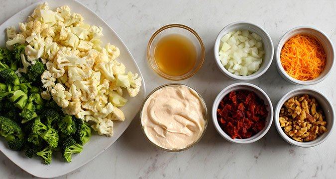 broccoli cauliflower salad recipe ingredients fountainof30