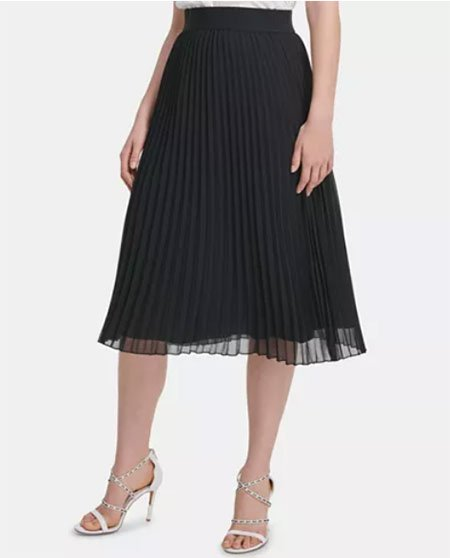Skimming Over Your Waistline black pleated skirt fountain of 30