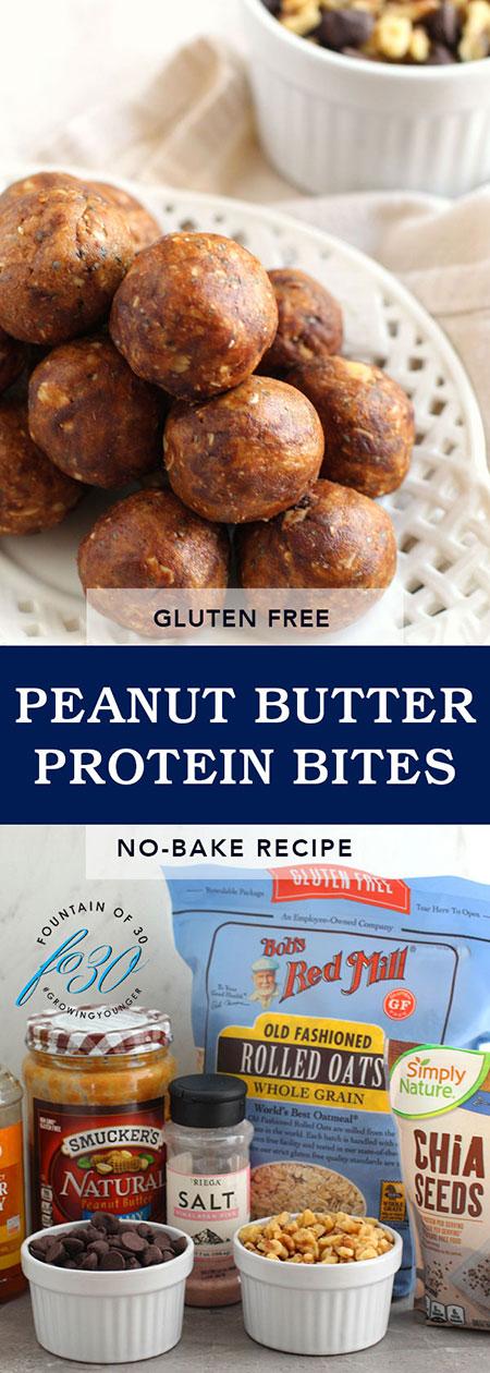 peanut butter protein bites recipe fountainof30
