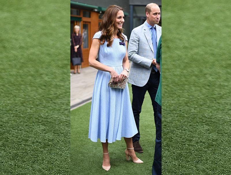 Kate Middleton Light Blue Dress