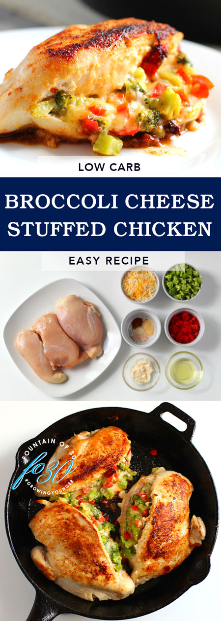 low carb broccoli cheese stuffed chicken fountainof30