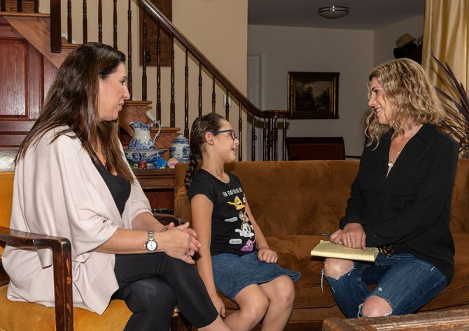 Ruthie, Ronie and Lauren Dimet Waters cochlear implants fountainof30