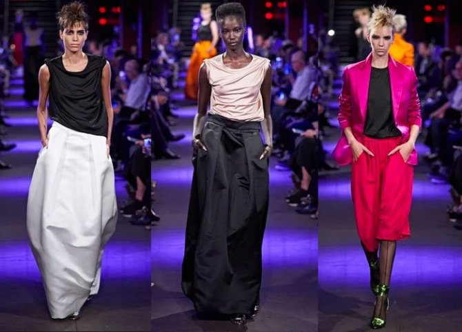 casual luxe trend tom ford ss2020 ball skirts