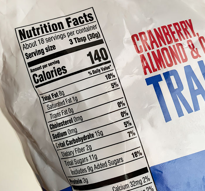 Nutrition Facts food label fountainof30