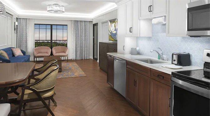 Disney's Riviera Resort villa kitchenette fountainof30