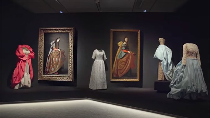 free art museums balenciaga at Thyssen-Bornemisza fountainof30
