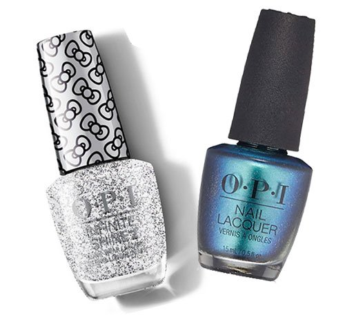 nail care opi glitter and blue polish fountainof30