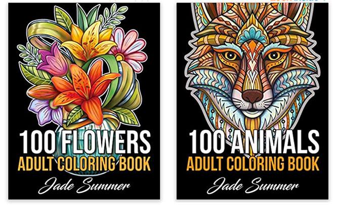 Relaxing Activities adult coloring books by jade summer fountainof30