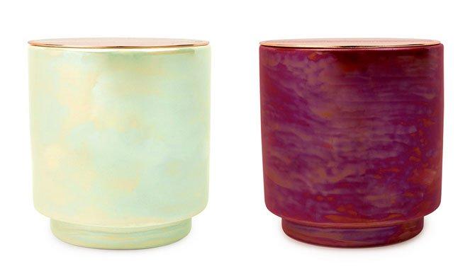 self-care home goods Paddywax Iridescent Ceramic Candles fountainof30
