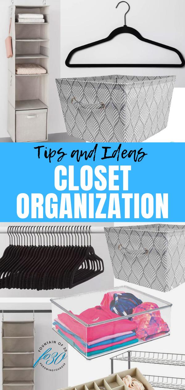 closet organization tips fountainof30