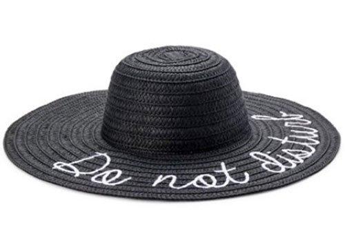 walart black sun hat do not disturb white script fountainof30