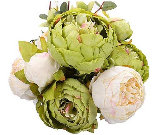 Artificial Peony Silk Flowers fountainof30