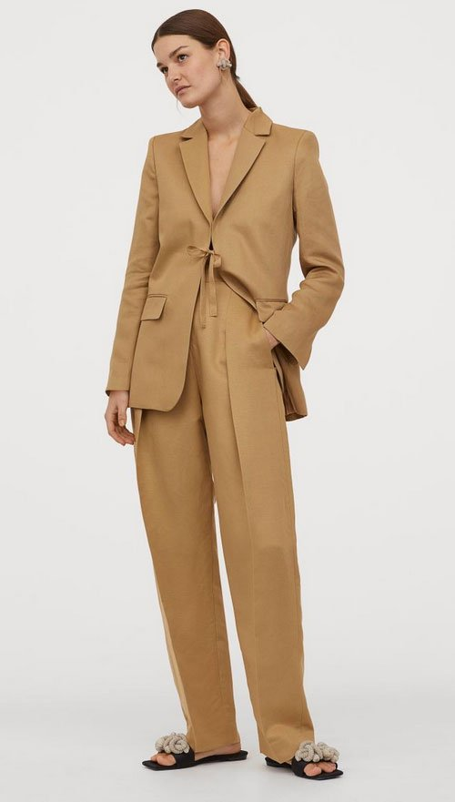 HM Suit slouchy pleated pants fountainof30
