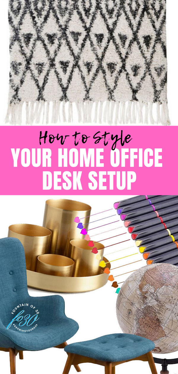 style your home office desk fountainof30