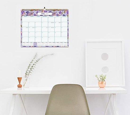 floral Wall Calendar fountainof30