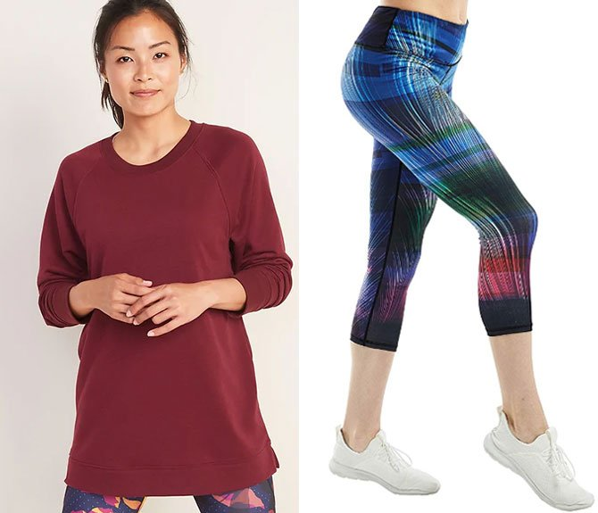 athleisure wear tunic and cropped leggings fountainof30