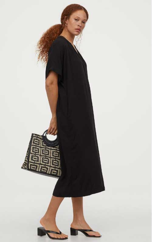 Caftans and Tunics For Women Over 40 black H&M