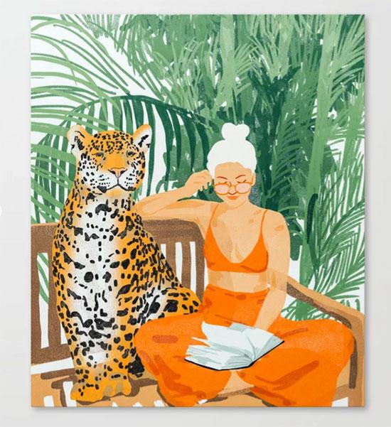 Jungle Vacay Canvas Prin