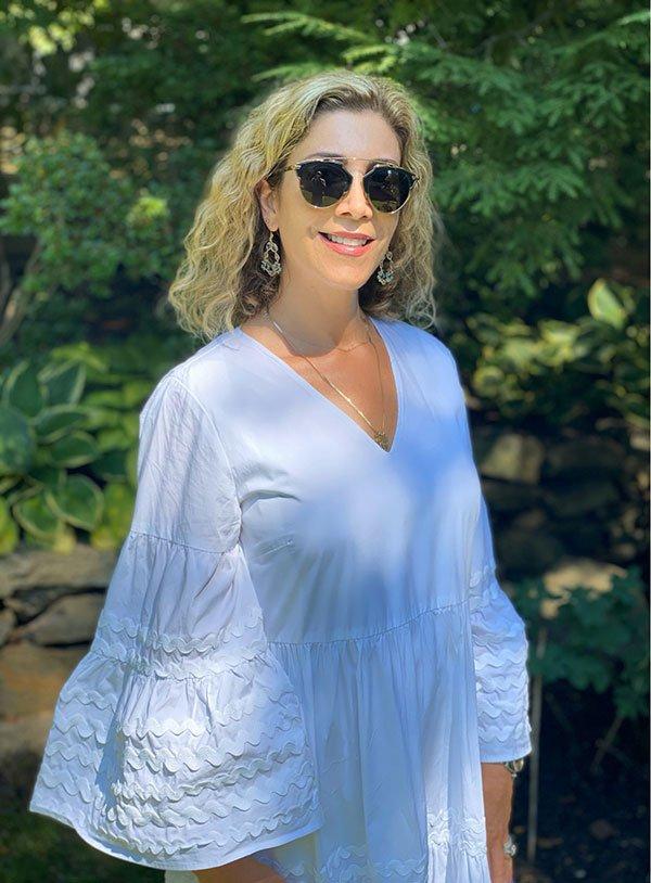 Lauren Dimet Waters white dress fountainof30