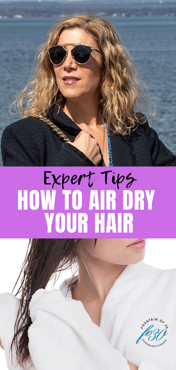how to air dry your hair fountainof30