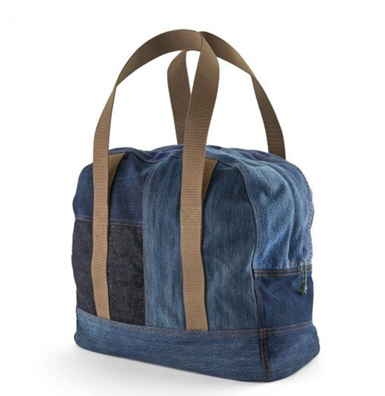 Patagonia Worn Wear® ReCrafted Overnight Bag blue denim fountainof30