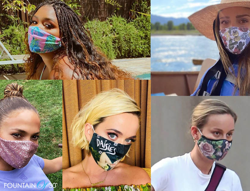 celebrities face mask with style fountainof30