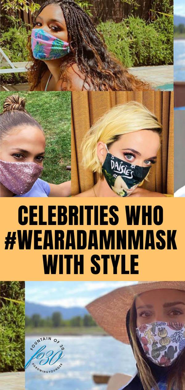 celebrities wearadamnmask fountainof30