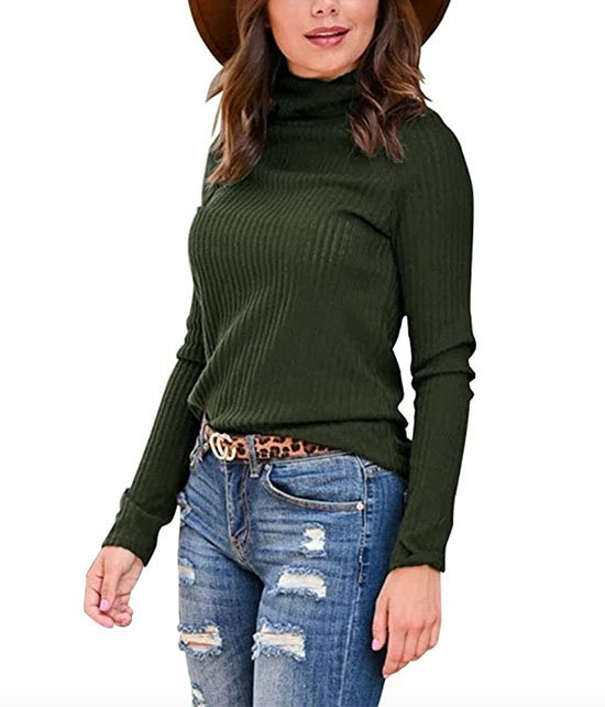 Amazon Long Sleeve Ribbed Knit Turtleneck fountainof30