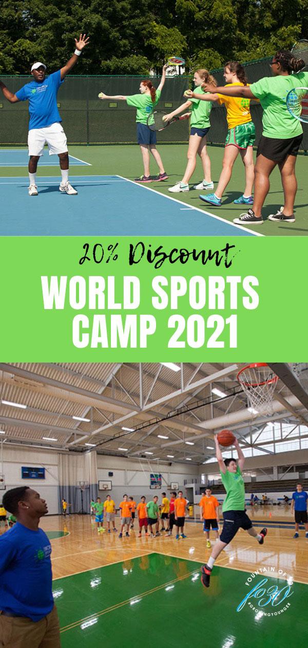 world sports camp discount fountainof30