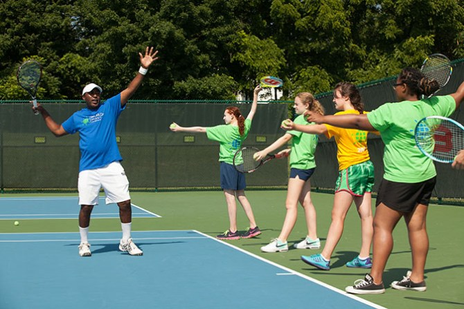 world sports camp for kids tennis