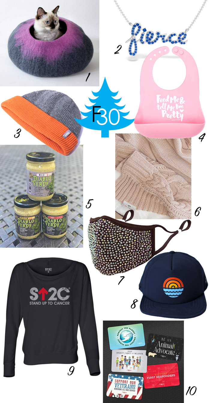holiday gifts that give back to charity fountainof30