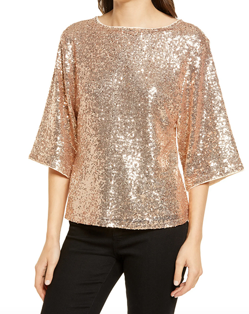 holiday look ovewr 40 Sequin top fountainof30