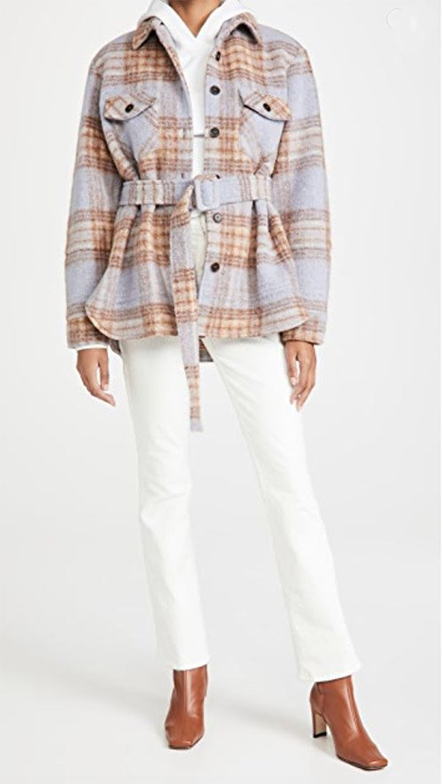 belted best ways to wear a shacket over 40 fountainof30