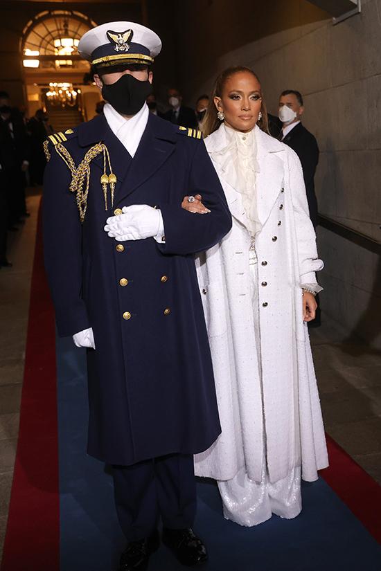JLo white chanel coat inauguration 2021