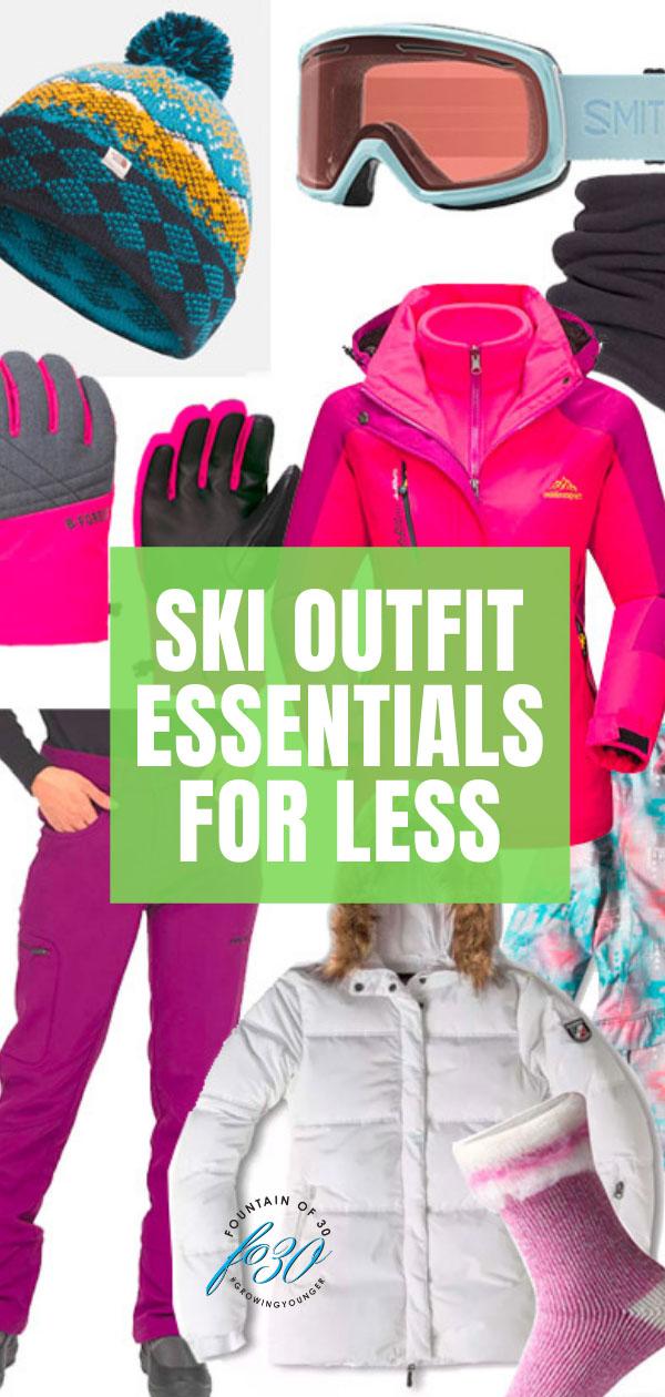ski outfit essentials under $100 fountainof30